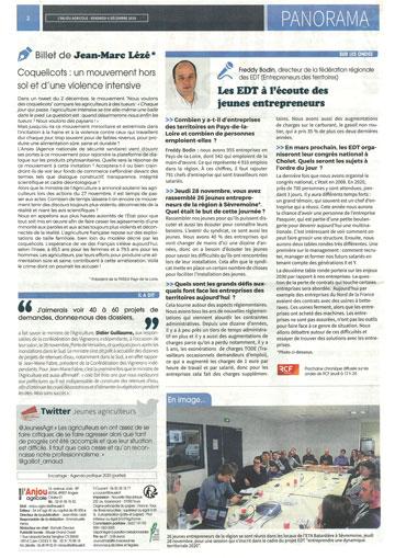 Anjou Agricole Congrès EDT